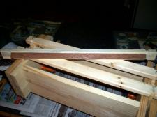 Frame Jig showing top-bar ready for glueing